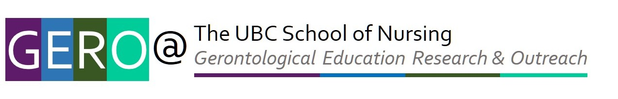 GERO - Gerontological Education, Research and Outreach - at UBC School of Nursing